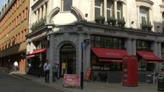 Byron restaurant on Haymarket Street in London Stock Footage