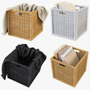 Rattan Basket Ikea Branas - 3D model