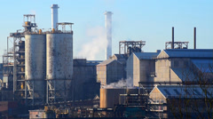 Industrial Chemical Plant Stock Footage