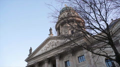 New Church, Neue Kirche, Deutscher Dom, dolly right, Berlin, Germany Stock Footage