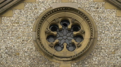 Southwark Cathedral's rosette in London Stock Footage