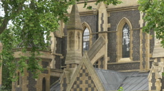 Southwark Cathedral seen in London Stock Footage