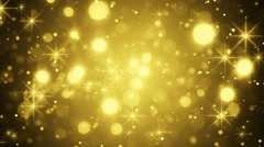 Gold bokeh and sparkles loop 4k (4096x2304) Stock Footage