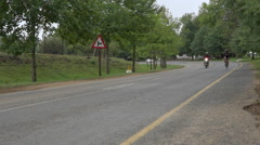Cyclists participate in the Compendium Midmar Notts Cycle Race - stock footage