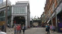 Stoney Street with Borough Market in London Stock Footage
