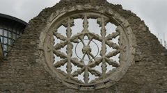 Winchester Palace's rosette in London Stock Footage