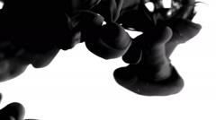 Ink Matte Effect. Black ink clouds in water Stock Footage