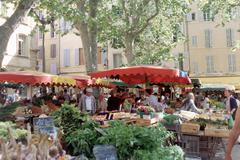 Market stall, Place Richelme, Aix-en-Provence - stock photo