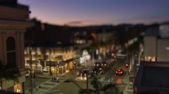 Tilt Shift Night Timelapse Rodeo Drive - stock footage