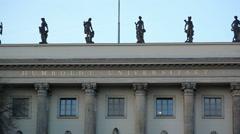 Outside Humboldt University entrance, Berlin, Germany Stock Footage