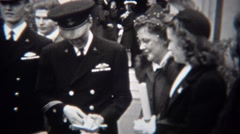 1943: Military soldier opening watch gift for valorous service during war. Stock Footage