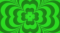 Four leafed clover saint Patrick day Irish holiday seamless loop motion ba green Stock Footage