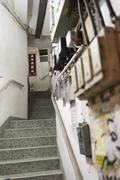 Hong Kong Tenement House Stairs - stock photo