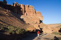 Canyon on sundown - stock photo