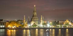 Wat Arun at night - stock photo