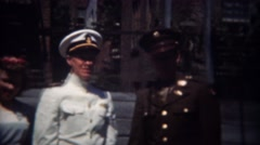 1944: Navy family before going to World War 2 battlefront. MIAMI, FLORIDA Stock Footage