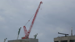 Tower crane in London Stock Footage