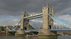 Great view of the Tower Bridge in London Stock Footage