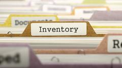 Folder in Catalog Marked as Inventory - stock illustration