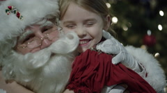 Santa Claus' visit on Christmas Eve Stock Footage