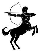 Centaur With Bow and Arrow - stock illustration