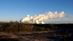 Modern coal power plant in Lusatia, Germany Stock Footage