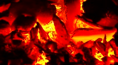 Burning hot charcoal Stock Footage