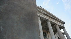 Low angle dolly right exposing Konzerthaus Berlin, Germany Stock Footage