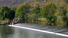 Weir and river Unstrut - stock footage