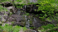 Waterfall Romkerhalle in Harz Stock Footage
