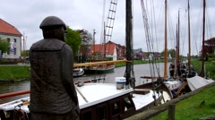 Carolinensiel harbour Stock Footage