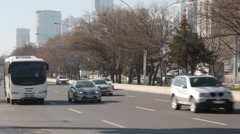 Heavy Traffic in Ankara, Cars, Automobiles - stock footage