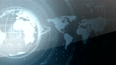 Globe and maps digital background 1 Stock Footage