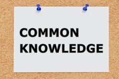 Common Knowledge concept - stock illustration