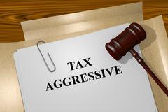 Tax Aggressive concept Stock Illustration