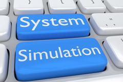 System Simulation concept Stock Illustration