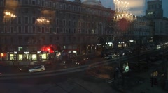 Kharkiv. View from the window. Evening . Stock Footage