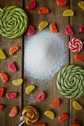Sweets and sugar - stock photo