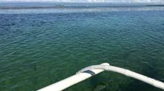 Catamaran Boat on the way to Panglao bay Stock Footage