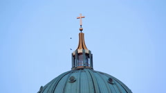 Berlin Cathedral, TV tower in background, Berlin, Germany Stock Footage