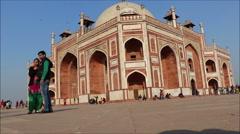 Humayun's tomb, Delhi, India Stock Footage