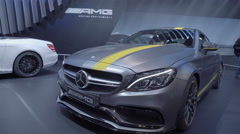 2017 Mercedes-AMG C63 Coupe. Toronto International Auto Show. Stock Footage
