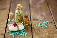 Aromatic spa products - stock photo