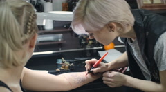 Drawing on Skin Stock Footage