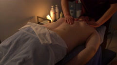 Professional Chinese massage male back Stock Footage