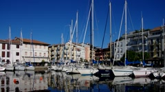 Grado harbour Stock Footage