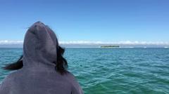 Sailing towards Panglao bay Stock Footage
