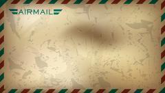 Postal background. illustration Stock Illustration