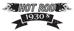 Hot Rod logo - stock illustration
