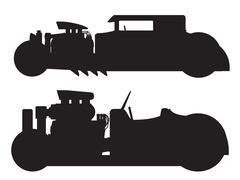 Hot rod car - stock illustration